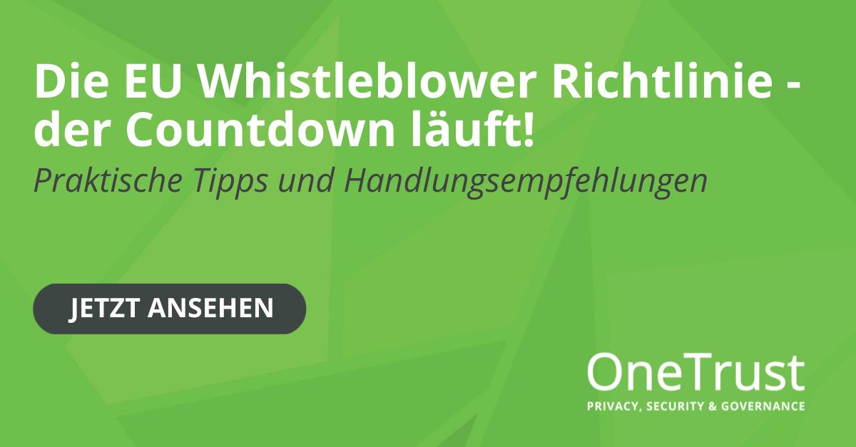 Whistleblower Richtlinie